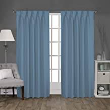 Cashmere Living Room Bedroom Meetingroom Club Theater Patio Door TWOPAGES 100 W x 102 L Flat Hook Room Darkening Velvet Curtain Drapery Panel for Traverse Rod Or Track 1 Panel