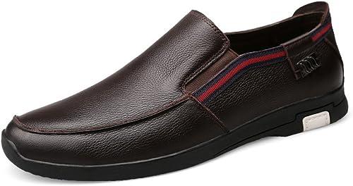GTYMFH zapatos De Cuero Para hombres De Ocio Antideslizantes Resistentes Al Desgaste De Negocios Casuales