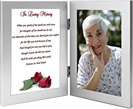 Woman Sympathy Gift, in Loving Memory, Wife, Mother, Grandmother - Add 4x6 Inch Photo