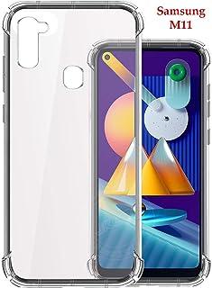 Jkobi Silicon Flexible Shockproof Corner TPU Back Case Cover for Samsung Galaxy M11 -Transparent