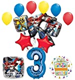 Mayflower Products The Ultimate Transformers 3rd Birthday Party Supplies and Balloon Decorations