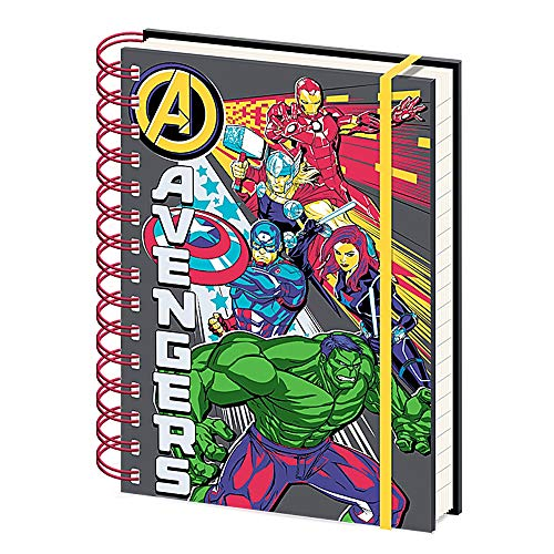Notizbuch mit Spiralbindung, Motiv Marvel Avengers, A5