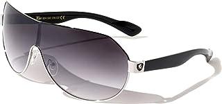 Men's Flat Top Sport Shied Aviator Sunglasses – Multiple Colors
