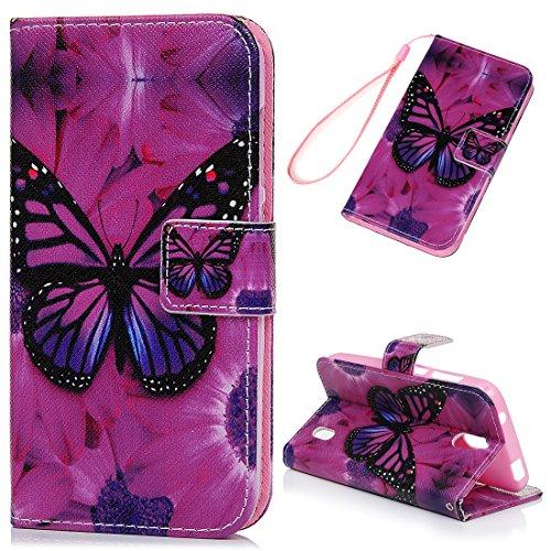 Kasos Huawei Y625 Hülle Leder Hülle, Huawei Y625 Handyhülle Bunt Gemalt Ledertasche Book Type PU Leder +TPU Innere Tasche Brieftasche & Magnetverschluss Schutzhülle,Großer Schmetterling