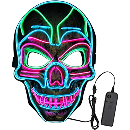 Ansee Scary Halloween Mask Venom Mask Led Light Up Mask Eco-Friendly Material Cosplay for Halloween Festival Party