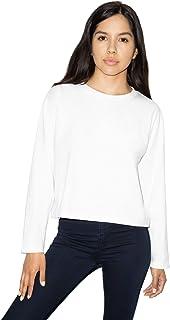 American Apparel Women's Fine Jersey Long Sleeve Boxy Crop Top