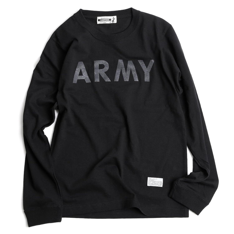 (キャンプフリー) CAMPFREE ジュニア?キッズ ARMY プリント 長袖 Tシャツ 子供服 M.H.A.style 10066