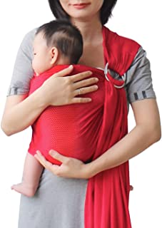 red baby sling