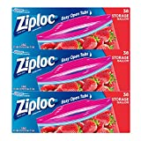 Ziploc Storage Bags with New Grip 'n Seal Technology, For Food, Sandwich, Organization and More, Gallon, 38 Count, Pack of 3 (114 Total Bags)