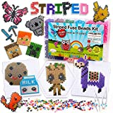 Striped Fuse Beads Kit of 10000 5MM with 50 Patterns of Animals Pokemon Minecraft Creation perler Compatible