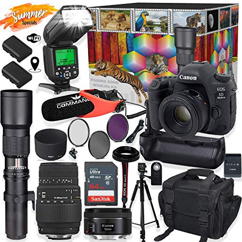 Canon EOS 5D Mark IV DSLR Camera with 50mm f/1.8 &...