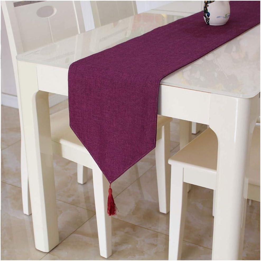 WZHONG Fashion Elegant Table Runner Tassel Linen Manufacturer direct delivery Moder Solid Decor Color