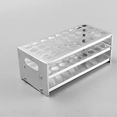 Holds 40 Adamas-Beta Testing Tubes Glassware Holder Stand Bracket Lab Chemistry Science Supplies Aluminum Test Tube Rack for 18.5 mm Tubes