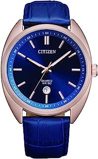 Citizen Mens Quartz Watch, Analog Display and Leather Strap - BI5093-01L