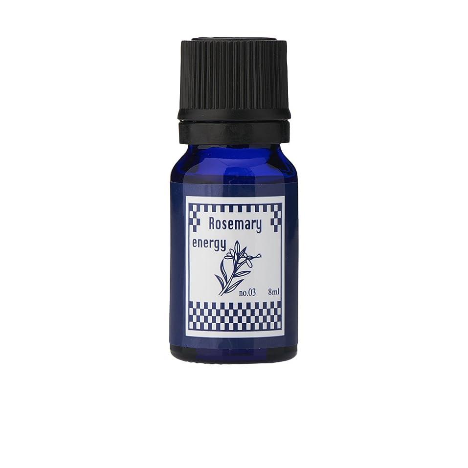 菊公然とアンソロジーブルーラベル アロマエッセンス8ml ローズマリー(アロマオイル 調合香料 芳香用)