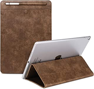 LFPING New Universal Case Sleeve Bag for iPad 2/3 / 4 / iPad Air/Air 2 / Mini 1 / Mini 2 / Mini 3 / Mini 4 / Pro 9.7 / Pro 10.5, with Pencil Case & Holder (Color : Brown)
