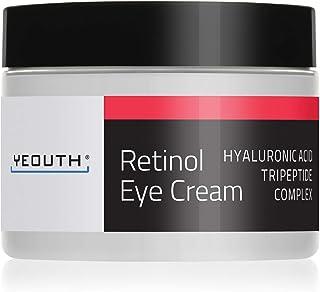 Crema para los ojos con Retinol 2.5% YEOUTH ácido hialurónico cafeína té verde antiarrugas.