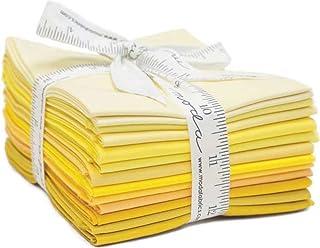 Bella Solids Yellows 12 Fat Quarters Moda Fabrics 9900AB 126