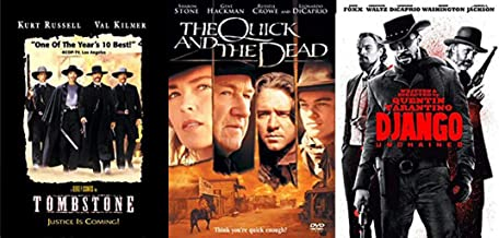 Man Unchained Are You Quick Enough: Tombstone & The Quick and the Dead + Quentin Tarantino Django (Triple Feature DVD Bundle)