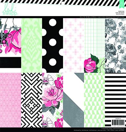 "American Crafts Heidi Swapp Paper Pack 12""X12"" 48/Pkg-Hello Beautiful"