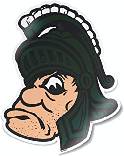 Nudge Printing Michigan State MSU Spartans Retro Full Color Old Gruff Sparty Logo College Vault Car Window Decal Bumper Sticker Laptop Sticker