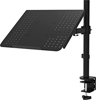 WALI Laptop Tray Desk Mount for 1 Laptop Notebook up to 17 inch, Fully Adjustable, 22 lbs Capacity with Vented Cooling Pla...