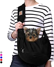 TOMKAS Small Dog Cat Carrier Sling Hands Free Pet Puppy Outdoor Travel Bag Tote Reversible