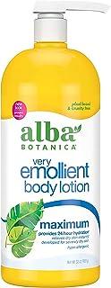 Alba Botanica Very Emollient Body Lotion, Maximum Dry Skin Formula, 32 Oz (Packaging May Vary)