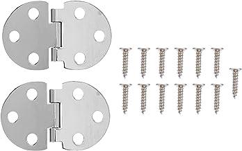 Mini 180 graden pure koperen flap scharnier (zilver) 2 stuks