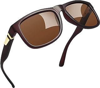 Joopin retro polariserade solglasögon män kvinnor UV400 skydd sportglasögon med vintage rektangulär ram ultralätt