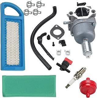 Butom LA125 Carburetor for John Deere LA115 LA105 D110 Lawn Riding Mower Briggs & Stratton intek MIA12509 MIA11474 GY20573 w/Air Fuel Filter Spark Plug
