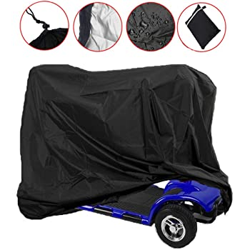 Waterproof Scooter Storage Cover for for Scooter Powerchair and Electric Powered Transport 66.9 x 24 x 46in Mobility Scooter Cover