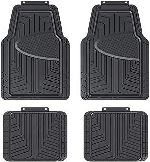 comprar comparacion AmazonBasics - Alfombrilla de goma para coches, todocaminos y camiones hecha para todas las estaciones, negra (4 unidades)