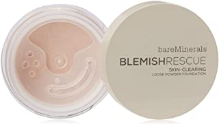 bareMinerals Escentuals Blemish Rescue Skin-clearing Loose Powder Foundation for Women, 3c Medium, 0.21 Oz