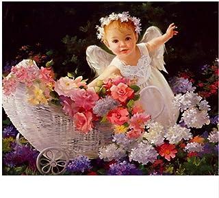 ZGFFCP 5D DIY 500 Piezas Puzzle Girl Angel Flower Baby Puzzle Set Adulto Ni/ño Juguete Educativo Decoraci/ón de Arte Mejor Regalo 53x38cm