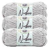Lion Brand Yarn 838-123AK Nuboo Yarn, Buff
