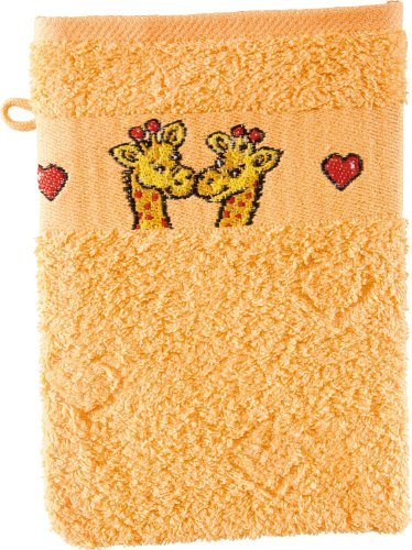 1 Waschhandschuh Giraffe gelb Dyckhoff