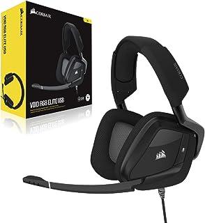 Corsair VOID ELITE RGB USB Gaming Headset (7.1 Surround Sound, Optimised Omnidirection Microphone, Customisable RGB Lighti...
