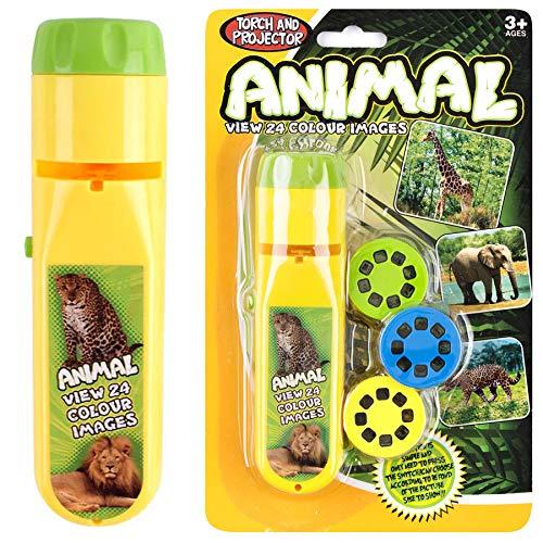 Georgie Porgy Kinder Projektor Taschenlampe Beamer Spielzeuge zum Wand Decke Zelt Lehrreich Wissenschaft Einstellen (Wildes Tier)
