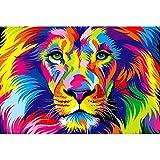 大人のジグソーパズル、500/1000/1500/2000/3000/4000/5000/6000ピース、男性と女性のシルエット写真、教育玩具ギフト 0322 (Color : Lion, Size : 6000 pieces)