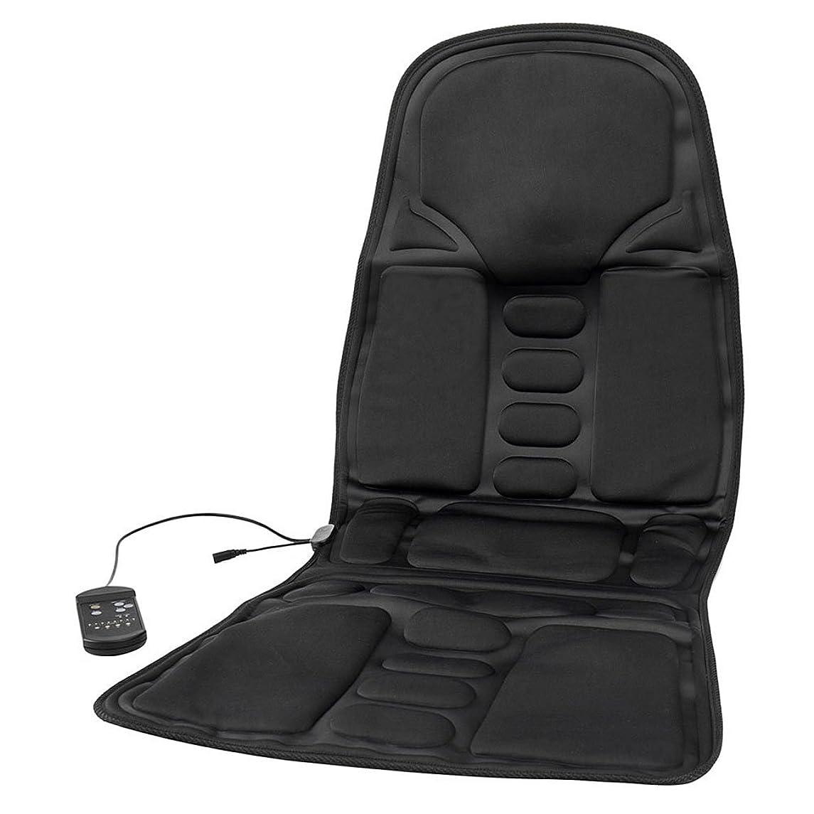 テレマコス適切にイブSeagullWaves マッサージシート シートマッサージャー 車載用 ヒーター搭載 品質PUレザー製 車シート ギフト 持ち運び便利 旅行 ホーム 椅子や座椅子用 取り付け簡単 8段階マッサージモードフリー 車シート椅子汎用