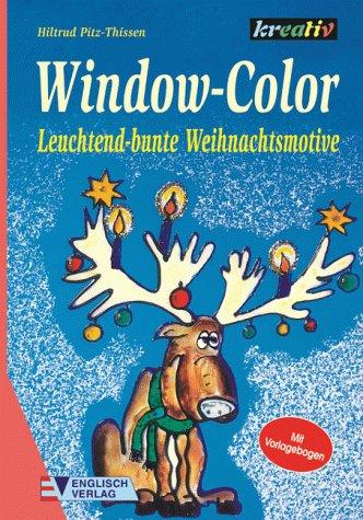 Window-Color, Leuchtend-bunte Weihnachtsmotive