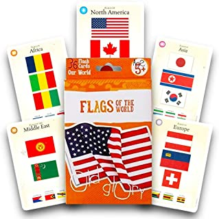 Bendon Flags of The World Flash Cards - 36 Count (Flags Flashcards)