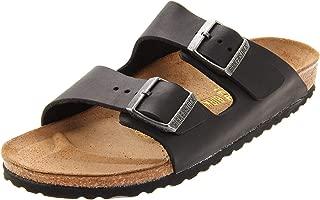 Birkenstock Unisex Arizona - Oiled Leather (Unisex) Black Oiled Leather 43 N EU Narrow