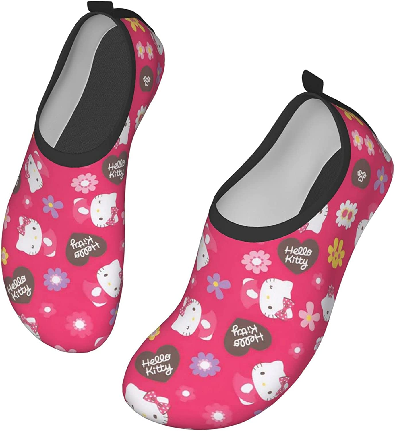 Hello Kitty Water Shoes Men's Women's Swim Shoes Barefoot Beach Pool Shoes Quick-Dry Yoga for Surf Swim Water Sport