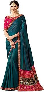Indian Ethnic Bollywood Saree Party Wear Pakistani Designer Sari Wedding, Saree for Womens