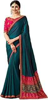 Indian Ethnic Bollywood Saree Party Wear Pakistani Designer Sari Wedding, Saree for Womens