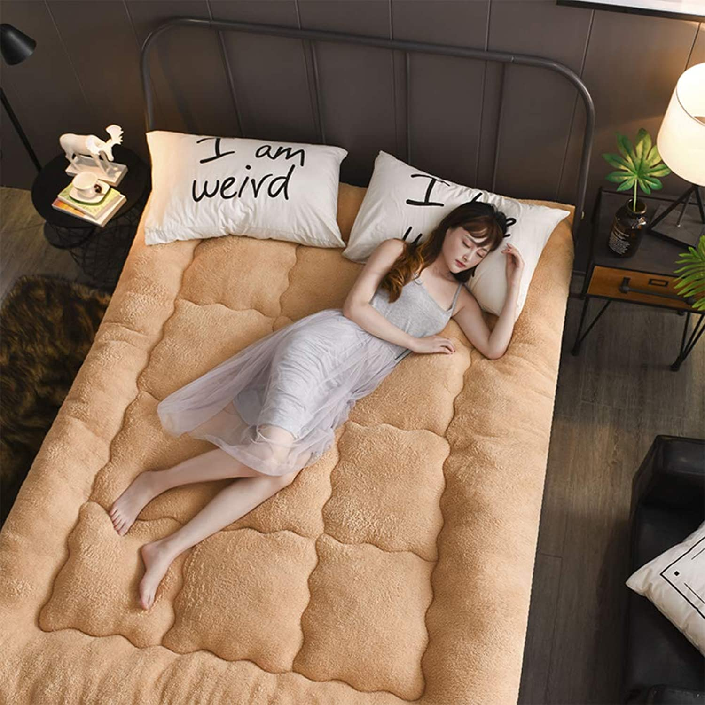 Lamb Velvet Mattress,Thickened Quilted Mattress,1.5m Student Dormitory Cushion,Mattress,1.8m-C 90x200cm(35x79inch)