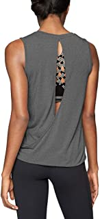 Women's Sexy Open Back Workout Tops Yoga Clothes Muscle Tanks Athletic Tank Tops