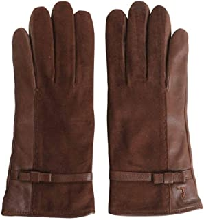 Luxury Fashion   Trussardi Womens 569604262 Brown Gloves   Season Permanent